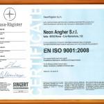 Certificato Iso Neon Angher