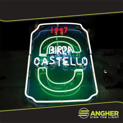 Insegna filo neon Birra Castello