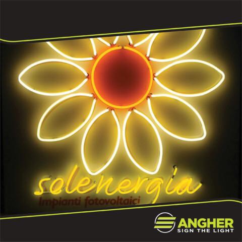 Insegna filo neon Solenergia