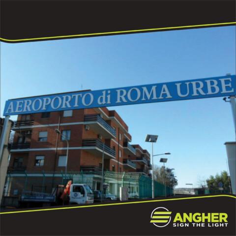 Insegna Grande Impianto Aeroporto di Roma Urbe