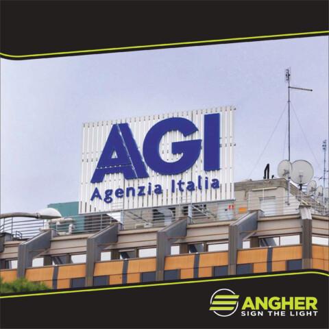 Insegna a Grande Impianto AGI - Agenzia Italia