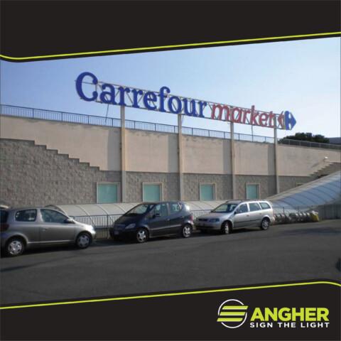 Insegna grande impianto Carrefour Market