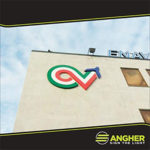 Insegna grande impianto Enav