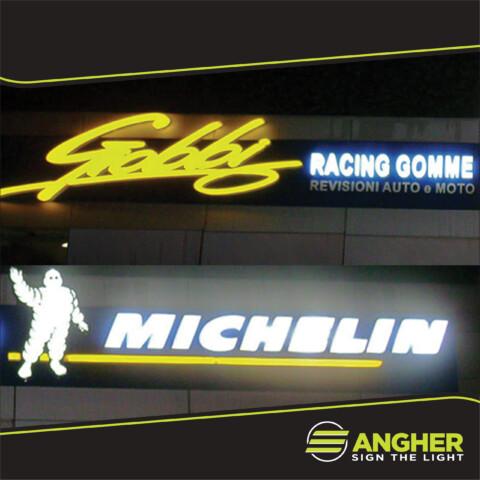 Insegna grande impianto Michelin