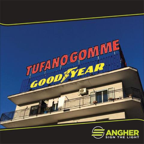 Insegna grande impianto Tufano Gomme