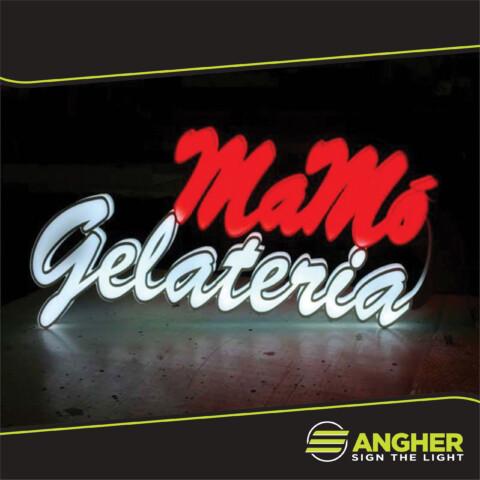 Insegna led Gelateria Mamò