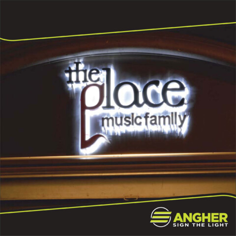 Insegna a led The Place music family