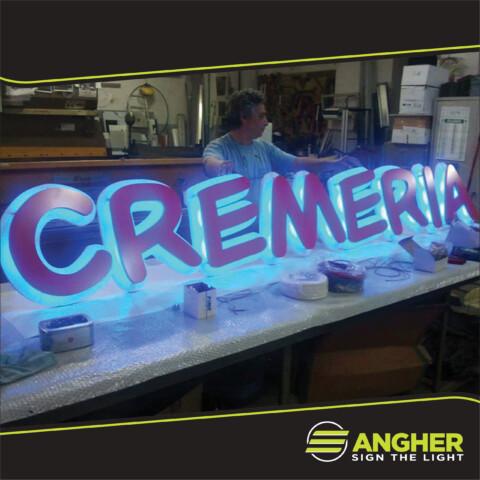 Insegna a led Cremeria