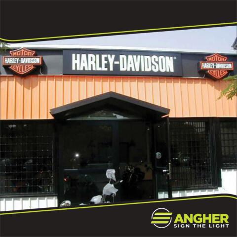 Insegna a Cassonetto Harley Davidson