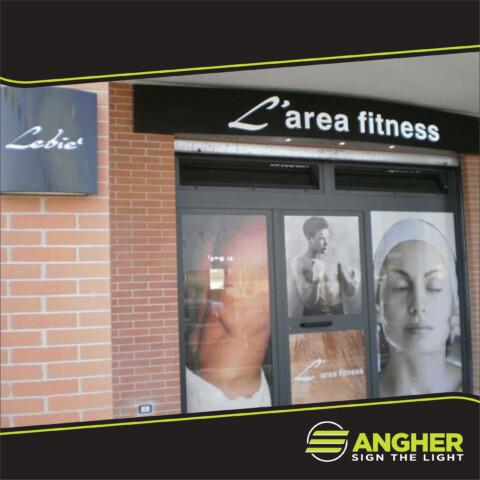Insegna a Cassonetto L'area Fitness