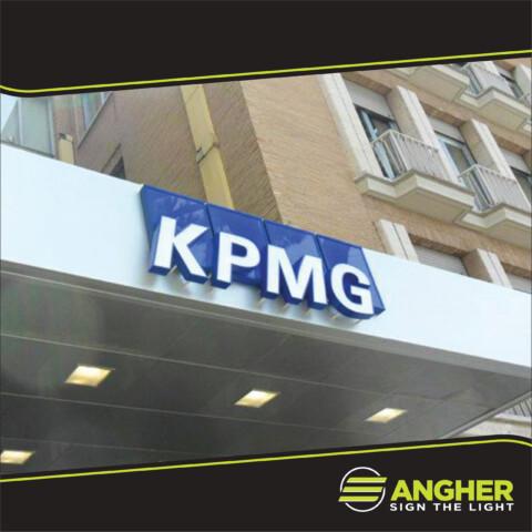 Insegna Led KPMG