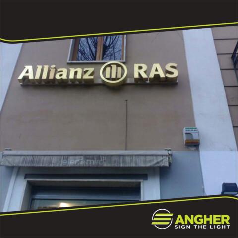 Insegna a Luce Riflessa Allianz Ras
