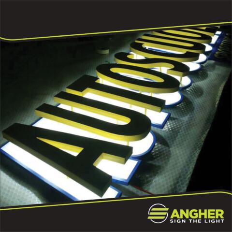 Insegna a Luce Riflessa Autoscuola