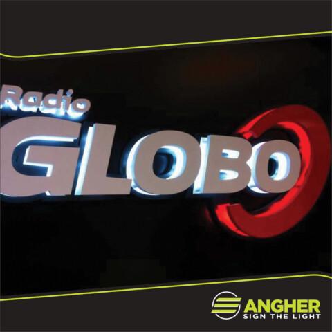 Insegna a Luce Riflessa Radio Globo