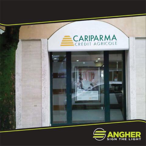 Insegna a Cassonetto Cariparma