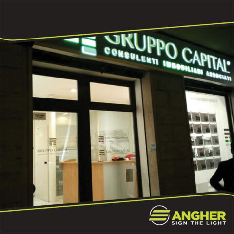 Insegna a Cassonetto Gruppo Capital
