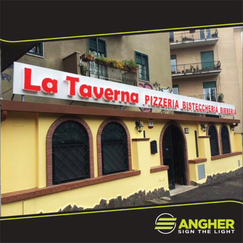 Insegna a led Pizzeria La Taverna