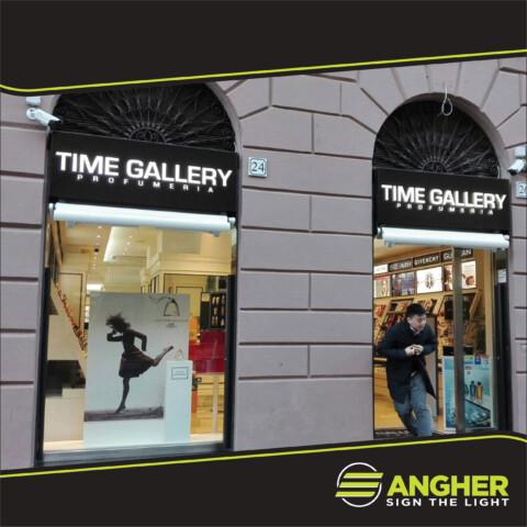 Insegna a Cassonetto Profumeria Time Gallery