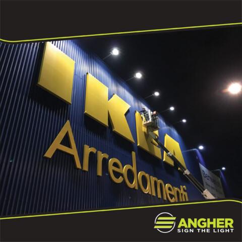 Insegna grande impianto Ikea